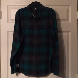 NWT Mens LRG Flannel Shirt size XL